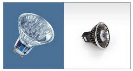 LED reflektory s nevhodným a vhodným chlazením