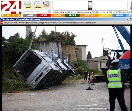 V Chorvatsku havaroval autobus s 38 Čechy. 19 je v nemocnici.