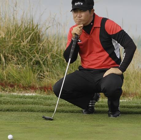 Jang Jong-un, první kolo US Open 2010.
