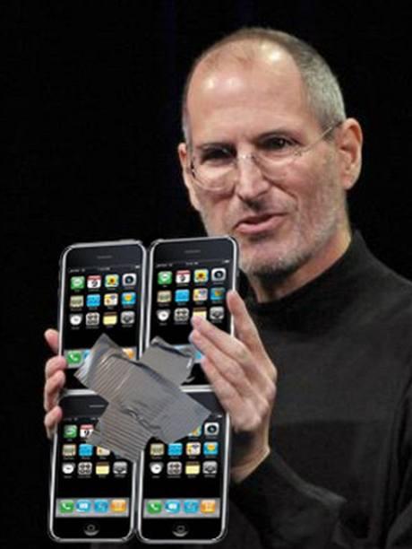 iPad vtípky - čtyři iPhony