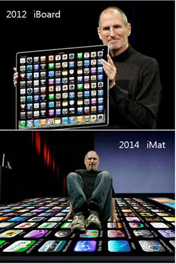 iPad vtípky - Apple roste