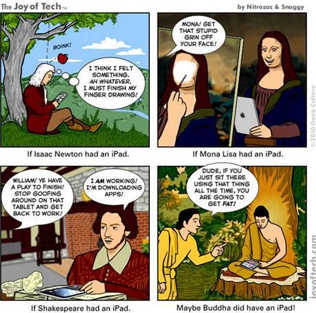 iPad vtípky - co by dělali slavní, kdyby měli iPad