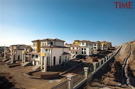 Domy v severočínském městě Kchang-pa-š' zejí prázdnotou.
