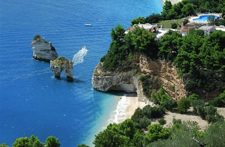 Itálie, Apulie, Gargano, Baia delle Zagare