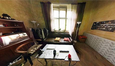 Pohled do pokoje Zuzky