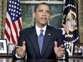 Barack Obama promluvil o ropné katastrofě z Oválné pracovny Bílého domu (16. června 2010)