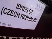 Místo vyhrazené pro iDNES.cz na červeném koberci k premiéře Sexu ve městě 2