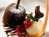 Zmrzlina z tmavé a bílé čokolády