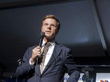 Lídr nizozemské Lidové strany pro svobodu a demokracii Mark Rutte (10. června 2010)