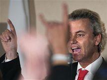 Lídr nizozemské Strany pro Svobodu Geert Wilders (10. června 2010)
