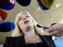Předsedkyně SDKÚ Iveta Radičová (12. června 2010)