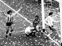 Argentina slaví vítězství proti Nizozemsko na MS 1978