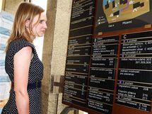 Poslankyně Věcí veřejných Lenka Andrýsová ve Sněmovně. (10.6. 2010)