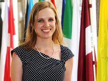 Poslankyně Věcí veřejných Lenka Andrýsová. (10.6. 2010)