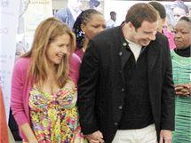 Kelly Prestonová se svým manželem Johnem Travoltou.