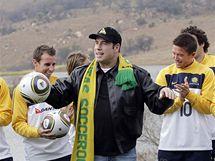 John Travolta se setkal s autralskými fotbalisty