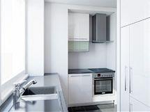 Kuchyně s dřezem pod oknem