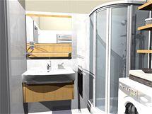 Rekonstrukce panelového bytu 2+kk bez stavebních úprav