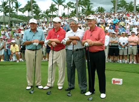 Arnold Palmer, Tom Watson, Lee Trevino a Jack Nicklaus