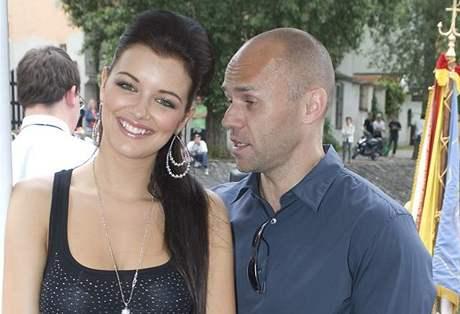 Česká Miss Jitka Válková se svým přítelem Mirkem Ciprou