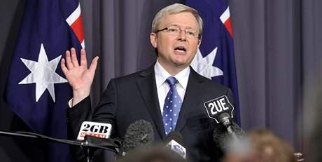 Odstupující australský ministerský předseda Kevin Rudd
