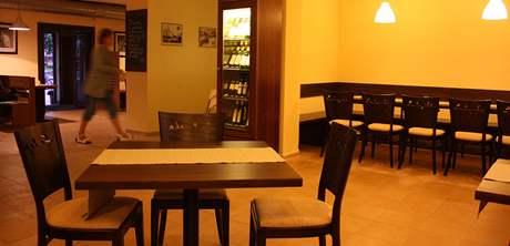Interiér restaurace na Šelepce v Králově Poli