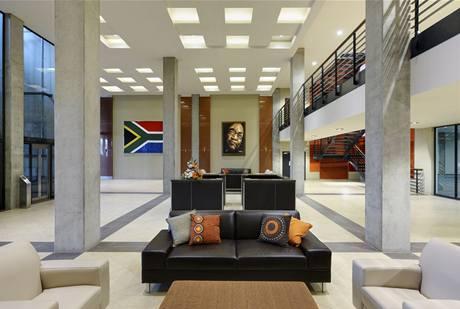 Interiér stadionu Mosese Mabhidy v Durbanu