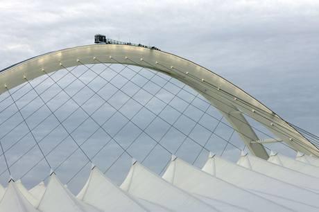 Nejvyšší bod konstrukce stadionu Mosese Mabhidy v Durbanu slouží i jako rozhledna