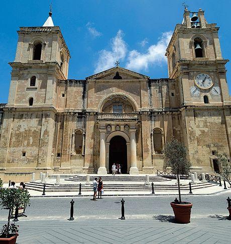 Malta. V katedrále St. John´s Co Caravaggia s jeho podpisem Cathedral je jediný obraz