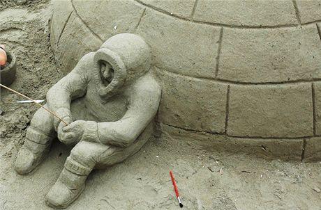 Španělsko, socha iglú