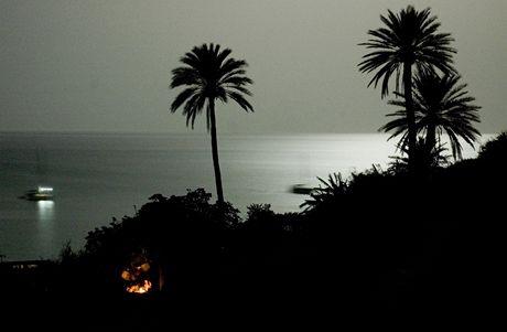 Španělsko, moje tajná pláž v noci
