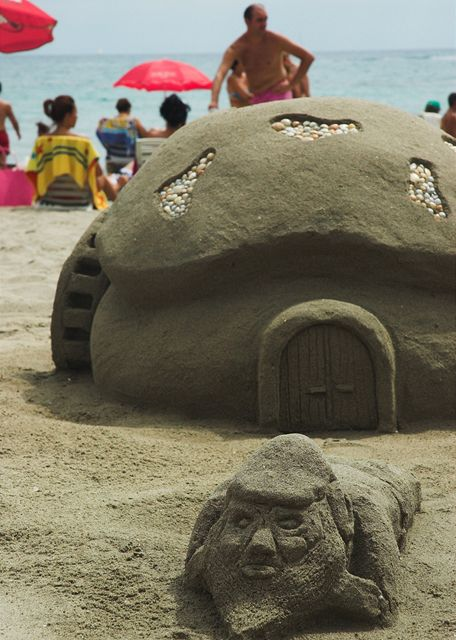 Španělsko, můj trpaslík z písku