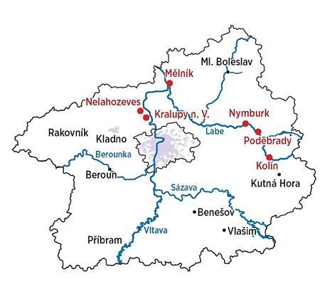Středočeský kraj řeky