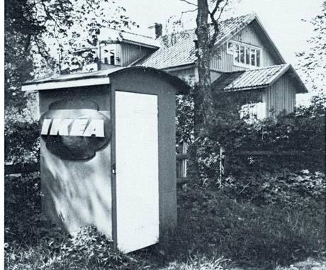Dobová fotografie prvního obchůdku IKEA