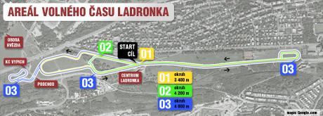 mapka - Areál volného času Ladronka