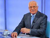 Prezident Klaus ve studiu TV Prima