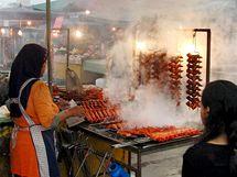 Na trhu v Kota Kinabalu