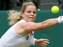 Kim Clijstersová ve wimbledonském čtvrtfinále