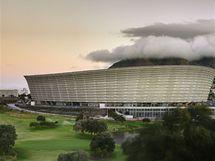 Stadion Green Point v Kapském městě za rozbřesku