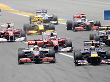 Startovn� pole Velk� ceny Evropy formule 1.