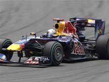 Sebastian Vettel na trati Velk� ceny Evropy.