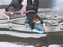 Úpravy archeologické expozice v zámečku Pohansko