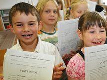 Konec školního roku ve vdojtřídkách na Základní škole v Konicích na Znojemsku