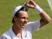 DOBOJOVÁNO. Tomáš Berdych porazil Federera a slaví postup do semifinále Wimbledonu