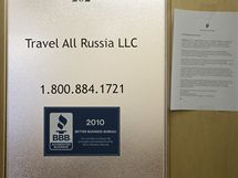 Firma Travel Russia, jeíž zaměstannec Michail Semenko byl obviněn ze špionáže pro Rusko