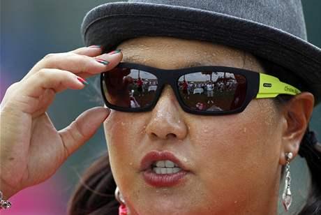 Christina Kimová, trénink na US Open 2010.