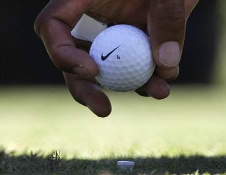 Tiger Woods, týčko, míček