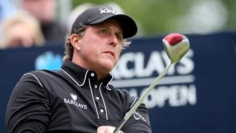 Phil Mickelson během prvního kola Scottish Open