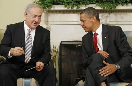 Americký prezident Barack Obama na schůzce s izraelským premiérem Benjaminem Netanjahuem. (6. července 2010)