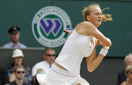Petra Kvitová v semifinálovém duelu se Serenou Williamsovou.